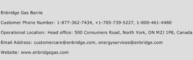 Enbridge Gas Barrie Phone Number Customer Service