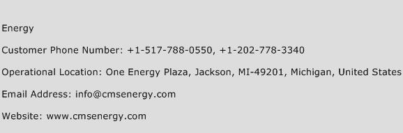 Energy Phone Number Customer Service