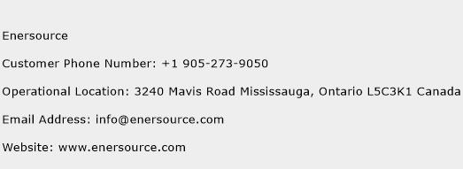 Enersource Phone Number Customer Service