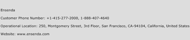 Ensenda Phone Number Customer Service
