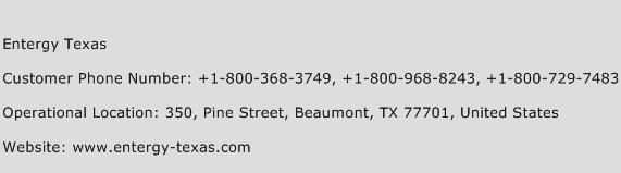 Entergy Texas Phone Number Customer Service