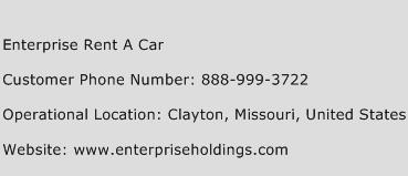 Enterprise Rent A Car Usa Phone Number