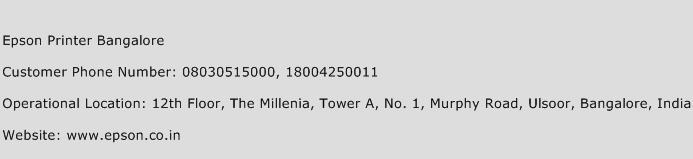 Epson Printer Bangalore Phone Number Customer Service