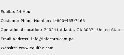 Equifax 24 Hour Phone Number Customer Service