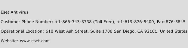 Eset Antivirus Phone Number Customer Service