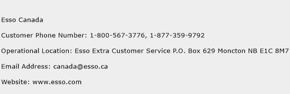 Esso Canada Phone Number Customer Service