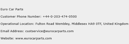 Euro Car Parts Phone Number Customer Service
