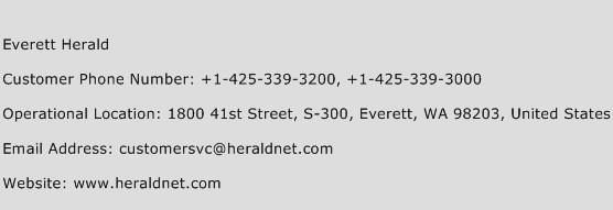 Everett Herald Phone Number Customer Service