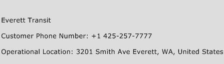 Everett Transit Phone Number Customer Service