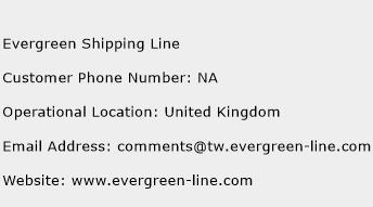 Evergreen Shipping Line Phone Number Customer Service
