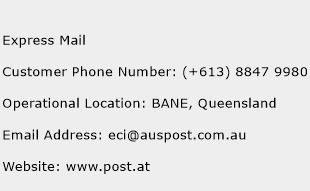Express Mail Phone Number Customer Service
