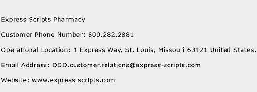 Express Scripts Pharmacy Phone Number Customer Service