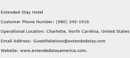 Extended Stay Hotel Phone Number Customer Service