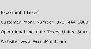 Exxonmobil Texes Phone Number Customer Service