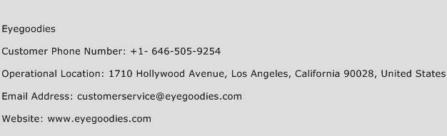 Eyegoodies Phone Number Customer Service