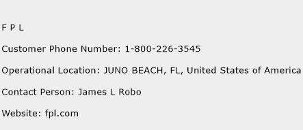 F P L Phone Number Customer Service