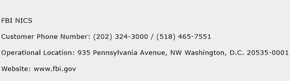 FBI NICS Phone Number Customer Service