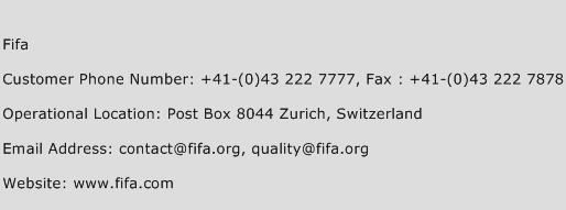 FIFA Phone Number Customer Service