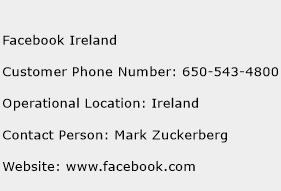 Facebook Ireland Phone Number Customer Service