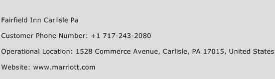 Fairfield Inn Carlisle Pa Phone Number Customer Service