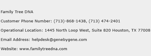 Family Tree DNA Phone Number Customer Service