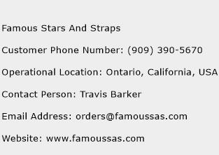 Famous Stars And Straps Phone Number Customer Service