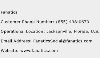 fanatics phone number for customer service