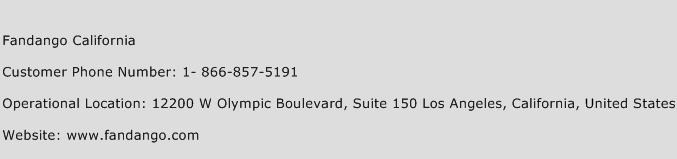 Fandango California Customer Service Number | Toll Free Phone ...