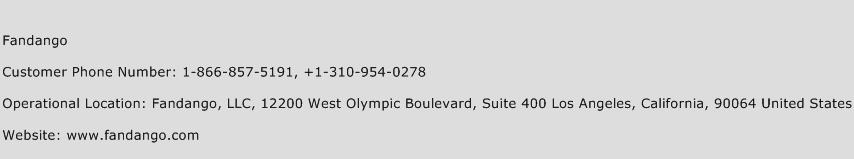 Fandango Customer Care Number | (Toll Free) Phone Number of Fandango
