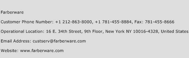 Farberware Phone Number Customer Service