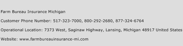 Farm Bureau Insurance Michigan Phone Number Customer Service