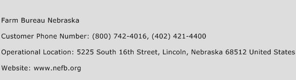 Farm Bureau Nebraska Phone Number Customer Service
