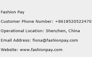 Fashion Pay Phone Number Customer Service