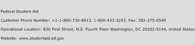Federal Student Aid Phone Number Customer Service