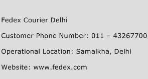 Fedex Courier Delhi Phone Number Customer Service