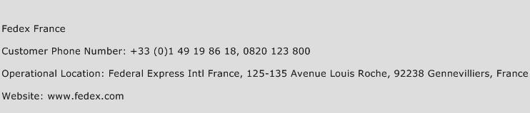 Fedex France Phone Number Customer Service