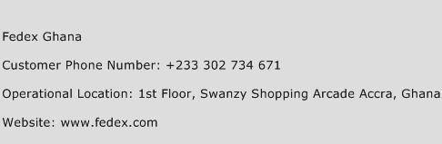 Fedex Ghana Phone Number Customer Service
