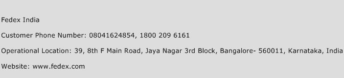 Fedex India Customer Care Number | Toll Free Phone Number of Fedex ...