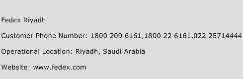 Fedex Riyadh Customer Service Phone Number | Contact Number | Toll ...