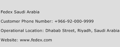 Fedex Saudi Arabia Phone Number Customer Service