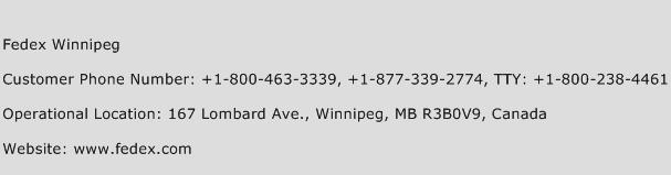 Fedex Winnipeg Phone Number Customer Service