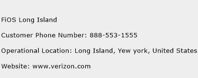 FiOS Long Island Phone Number Customer Service