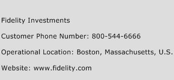 Fidelity Investments Phone Number Customer Service
