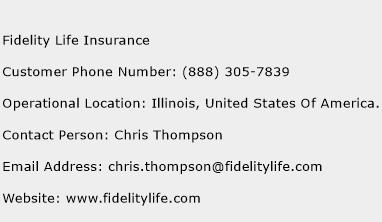 Fidelity Life Insurance Phone Number Customer Service