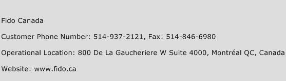 Fido Canada Phone Number Customer Service