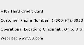 Fifth Third Credit Card Phone Number Customer Service