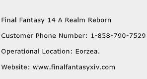 Final Fantasy 14 A Realm Reborn Phone Number Customer Service