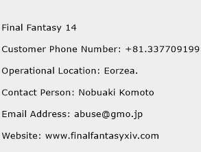 Final Fantasy 14 Phone Number Customer Service