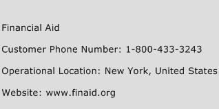 Financial Aid Phone Number Customer Service