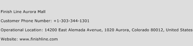 Finish Line Aurora Mall Customer Service Number | Toll Free Phone ...